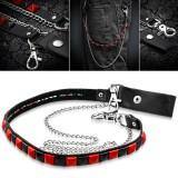 Chaine de jean 04 - Noire et rouge