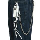 Chaine de jean 08 - Cuir blanc