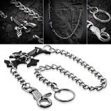 Chaine de jean gothique 01 - Croix ailée