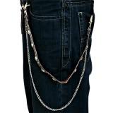 Chaine de jean gothique 09 - Crâne et ronds
