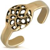 Bague phalange, pied bronze 04 - Cercle rosas