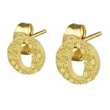 Clou pour oreille en acier lettre gold ip O