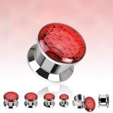 Plug en acier logo dévissable vipère rouge