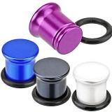 Plug métallique coloré effet perle