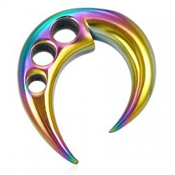 écarteur acier PVD tribal rainbow A 04mm