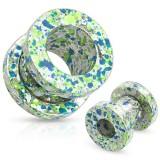 Plug acier peint blanc, bleu et vert
