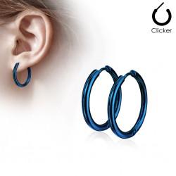 Boucles créoles 73 - Plaqué titane bleu B