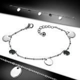 Chaine de cheville 08 - Cercles noirs et gris