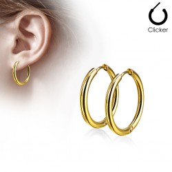 Boucles créoles 75 - Gold-ip B