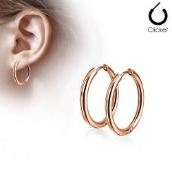 Boucles créoles 76 - Gold-ip rose B