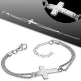 Chaine de cheville 73 - Double chaine grande croix