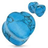 Plug courbe coeur en turquoise