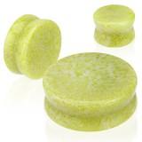 Plug courbe en jade citron