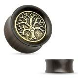 Plug en bois courbe arbre de vie