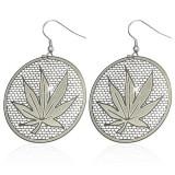 Crochets en acier 22 - Cercle feuille de cannabis