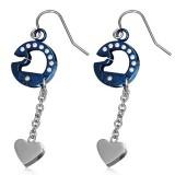 Crochets en acier 38 - Cercle bleu et coeur
