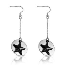 Crochets en acier 51 - étoile noire dans cercle