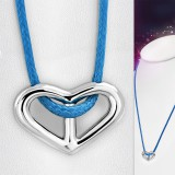 Collier en acier 25 - Coeur cordon bleu