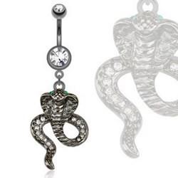 Piercing nombril noir 18 - Serpent