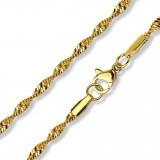 Chaine acier 63 - Gold-ip mailles 03mm