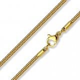 Chaine acier 64 - Gold-ip mailles 03mm