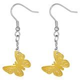 Crochets en acier 11 - Gold ip papillon