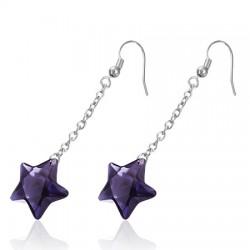Crochets en acier 13 - étoile violette