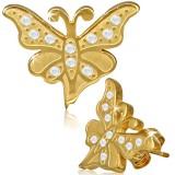 Clous en acier 25 - Gold ip papillon