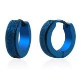 Anneaux oreilles acier 15 - Bleu satin