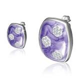 Clous en acier 59 - Rectangle violet