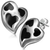 Clous en acier 68 - Coeur et coeurs noirs