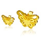 Clous en acier 96 - Gold ip papillon
