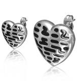 Clous en acier 123 - Coeur taches noires
