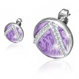 Clous en acier 131 - Cercle violet multistrass