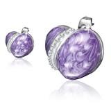 Clous en acier 134 - Coeur violet multistrass