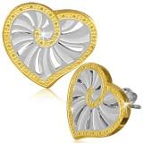 Clous en acier 141 - Gold ip coeur