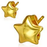 Clous en acier 144 - Gold ip étoile