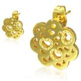 Clous en acier 147 - Gold ip flocon coeurs