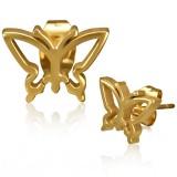 Clous en acier 164 - Gold ip papillon