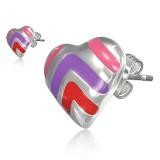 Clous en acier 169 - Coeur multicolore