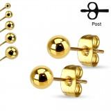 Clous en acier 186 - Boule gold-IP