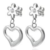 Clous pendants 01 - Coeur et fleur