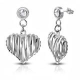 Clous pendants 23 - Coeur strié
