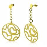 Clous pendants 24 - Gold iP cercle coeur
