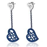 Clous pendants 33 - Coeur bleu