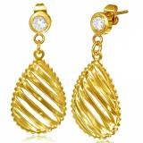 Clous pendants 39 - Deux gouttes gold iP