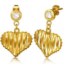 Clous pendants 56 - Gold iP coeur