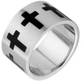 Large bague avec des croix noires (08)