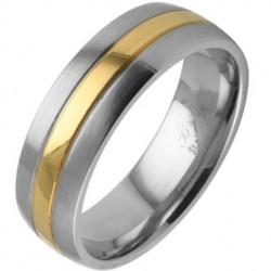 Bague gold-ip 09 - Centre coloré et bords gris