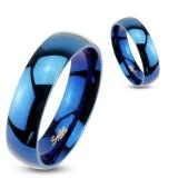 Bague PVD 11 - Simple bleue